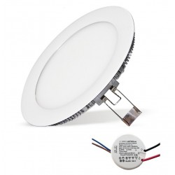 Plafonier Led 18W D225mm Blanc Neutre